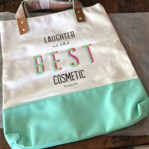NWT Benefit Laughter Tote Bag